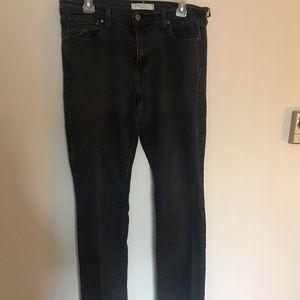 Off black Levi's straight leg jeans